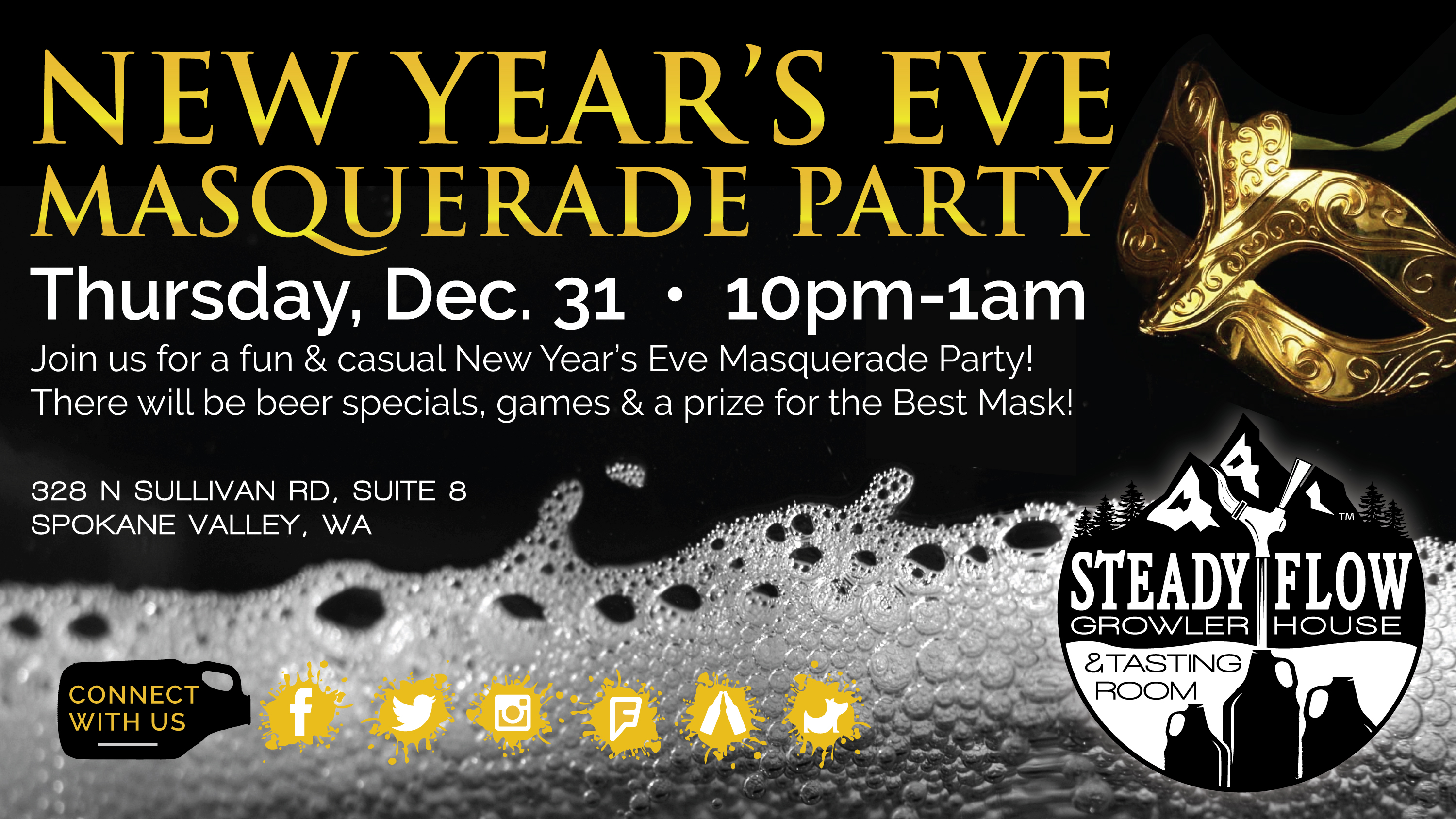 New Year's Eve Masquerade Party!