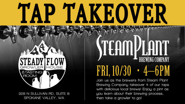 Tap Takeover with Steam Plant Brewing Company